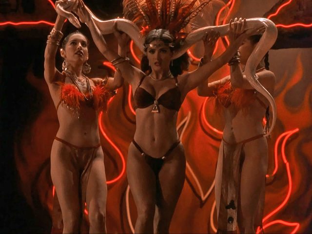 Played by Salma Hayek in From Dusk Til Dawn, Santanico Pandemonium is a vicious vampire moonlighting as a stripper.