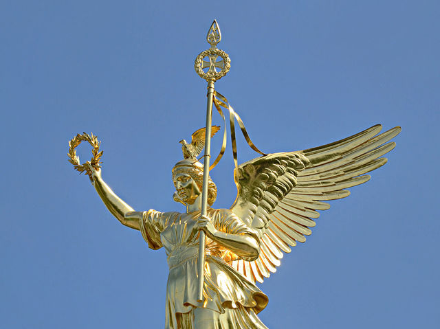 Victoria is the Roman goddess of victory. What is her Greek name?