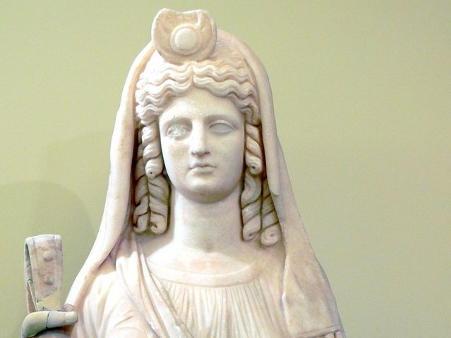 Proserpine is the Roman goddess of the underworld. What is her Greek name?