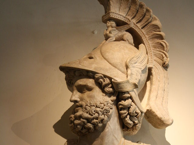 Mars is the Roman god of war. What is his Greek name?