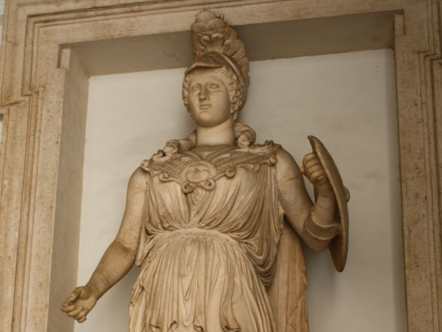 Minerva is the Roman goddess of wisdom. What is her Greek name?