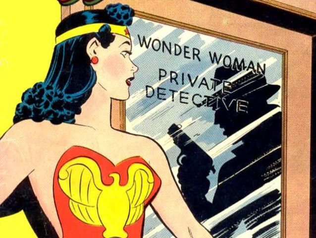 Wonder Woman's bare shoulders were deemed too revealing by some in 1942.