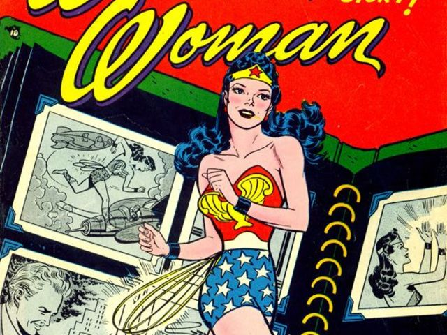 In 1942, Wonder Woman was briefly banned for what reason?
