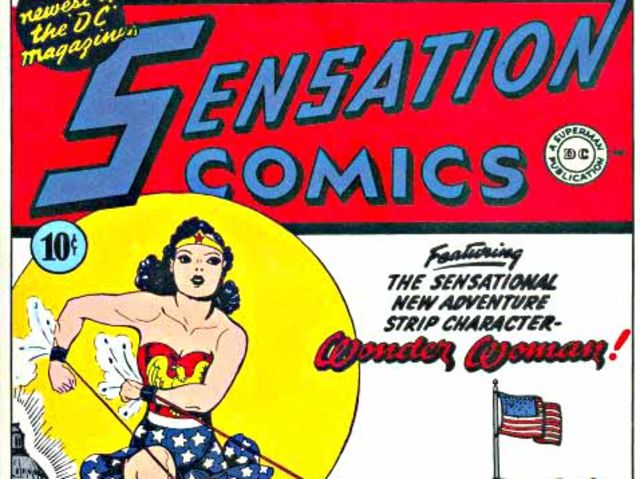 In what year did Wonder Woman first make her comic debut?