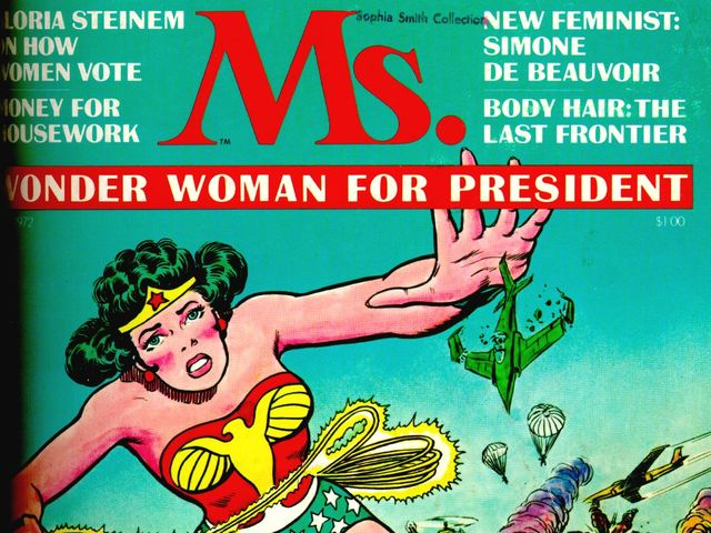 True or False: Wonder Woman was on the very first cover of Ms. Magazine.