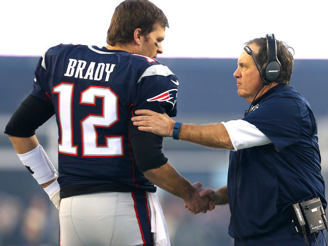 How many times have Bill Belichick and Tom Brady appeared in an AFC title game?