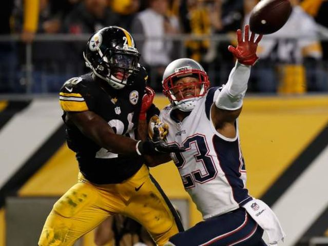This is third AFC Championship meeting between the Steelers and Patriots, tying the record. What other team have the Patriots battled thrice?