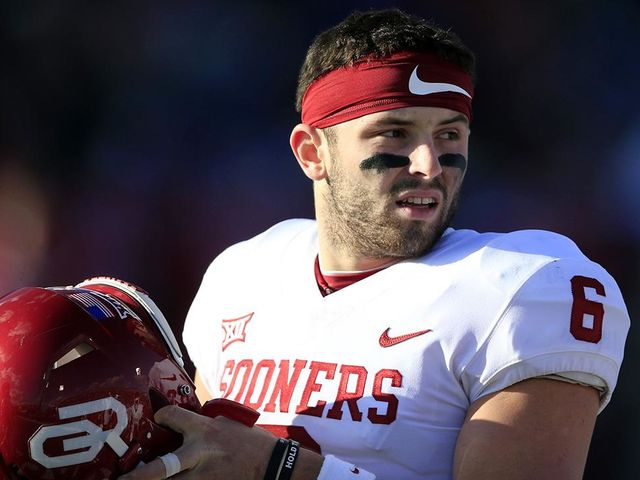 What was Oklahoma's record in both of Mayfield's full seasons starting as QB?