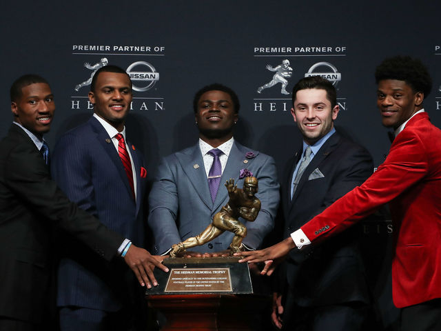 Mayfield finished 4th in Heisman voting in 2015, 3rd in 2016 and is the current favorite to win the award.