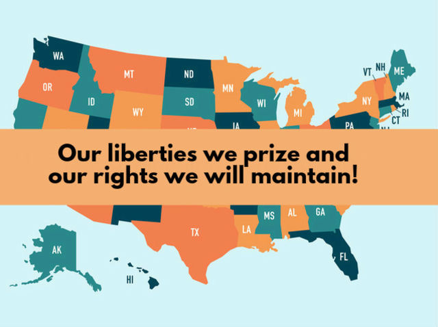 Our liberties we prize and our rights we will maintain