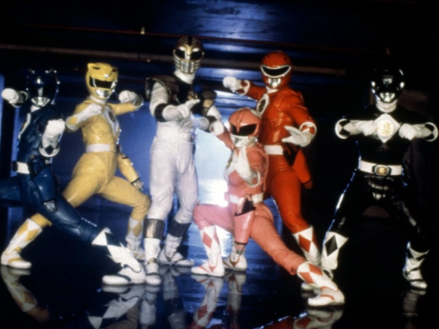What year did the original Mighty Morphin Power Rangers premiere in the US?