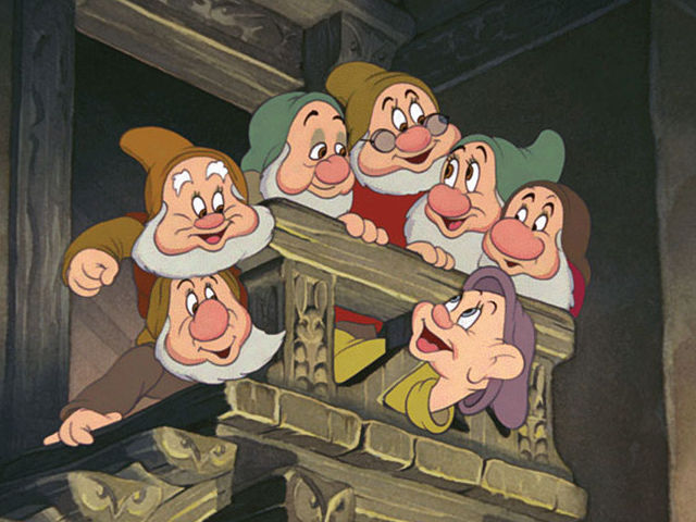 The dwarfs all go to work together at a _____.