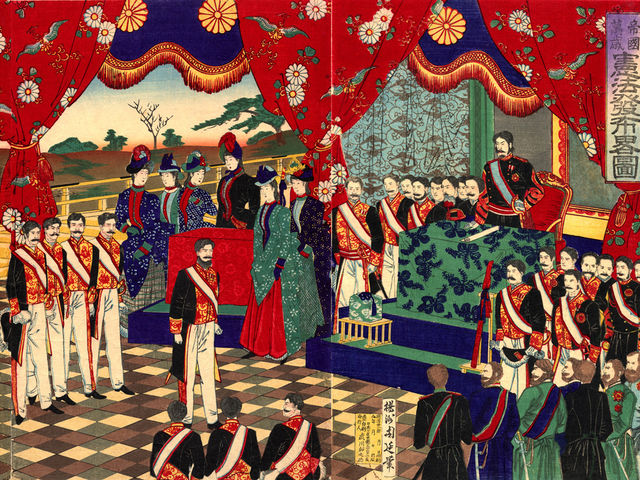 What was the form of government that held power before the Meiji Restoration?