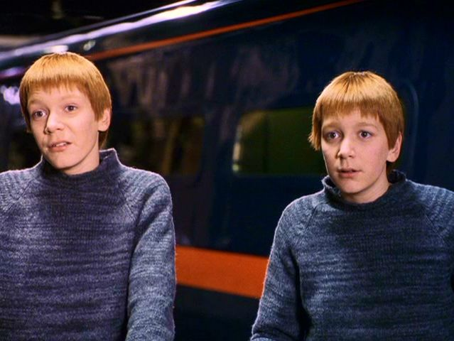 Which Weasley twin is the one on your left?