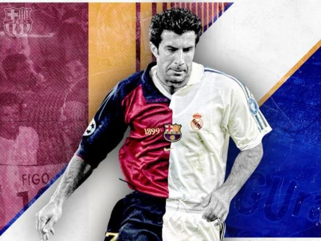 What object was infamously thrown at Luis Figo when the former Barca man returned to Camp Nou as a Madrid player in 2002?