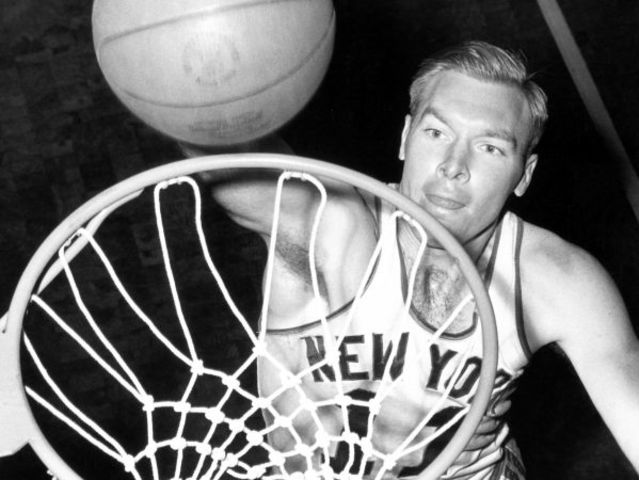 The Knicks took part in the NBA's first game ever. Who were their opponents?