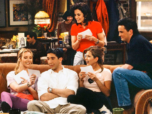 Which band do Ross, Monica and Chandler go to see for Ross's birthday?