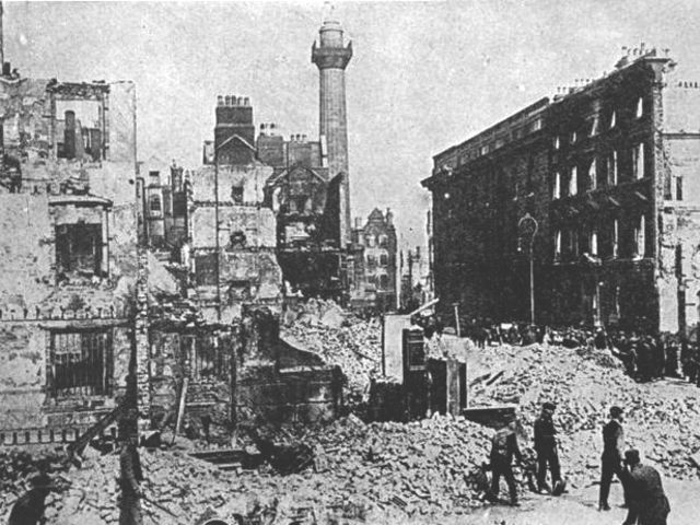 What other major conflict was taking place at the same time as the Easter Rising?