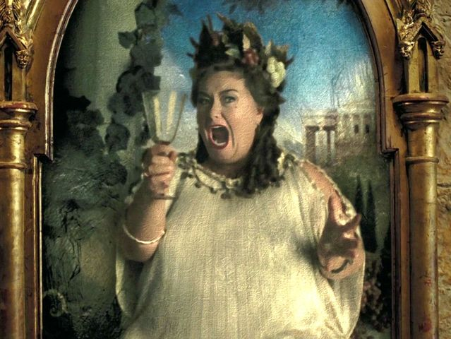 Where did the Fat Lady hide after being attacked by Sirius Black?
