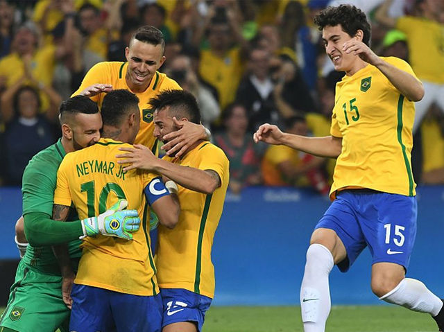 Neymar Jr secured Brazil its first-ever Olympic gold when he scored in the penalty shootout in front of 100,000 screaming fans at the Maracana.