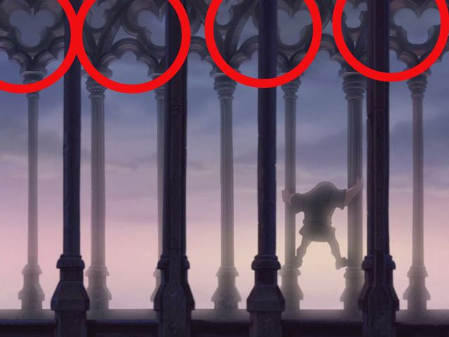 Notre Dame is filled with hidden Mickeys, so if you said quadrants 1 or 2, you're correct!