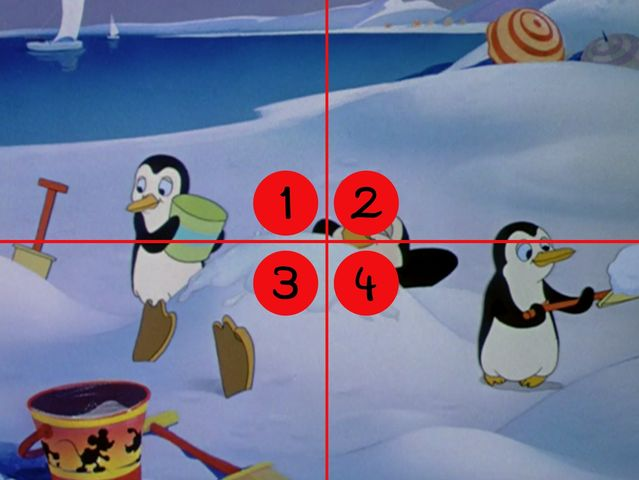 Which quadrant is Mickey hiding in? (To see full image, click the x in the corner of this textbox.)