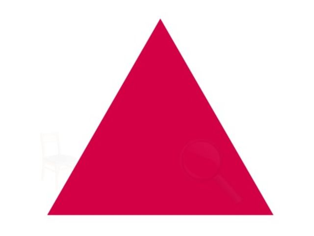 What do you see inside the triangle?