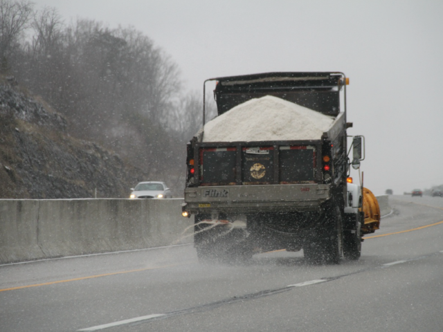 How many tons of salt are used on U.S. roads each winter?