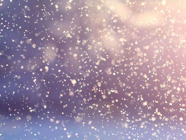 At what speed do snowflakes typically fall?