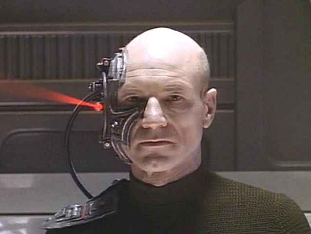 TNG: Best of Both Worlds saw Picard assimilated