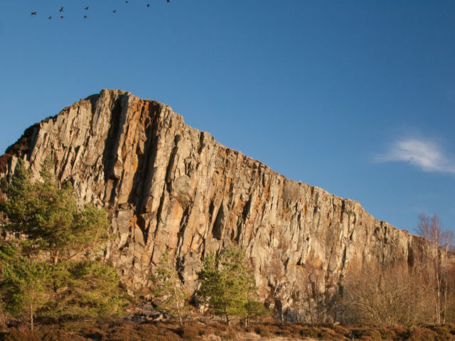 The Whin Sill is made of an igneous rock called Dolerite.