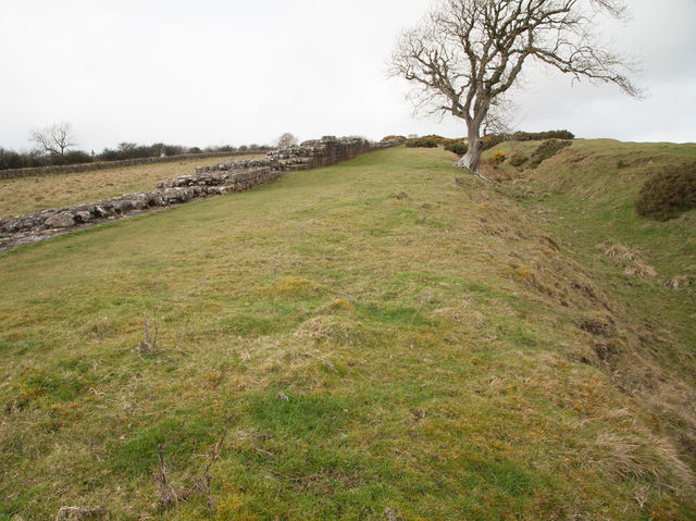 The Vallum comprised mounds and a ditch and was added after the construction of the Wall.