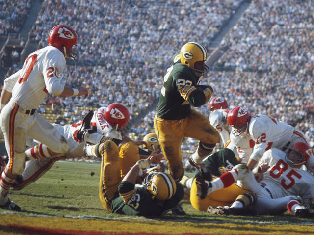 The Packers beat the Chiefs 35-10 in the first AFL–NFL Championship Game (Super Bowl I) in 1967.