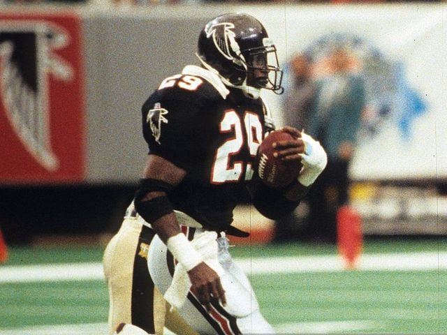 Dickerson ran for 91 yards in a back-up role in four games with the Falcons in 1993. He was traded to the Packers, but failed a physical and retired.