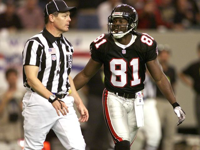 Who has caught the most passes, all-time, for the Atlanta Falcons franchise?
