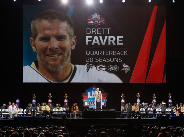 Favre was drafted by the Falcons and played a handful of snaps before being traded to the Packers