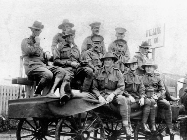How many Anzac troops served in the Allied fighting force during World War One?