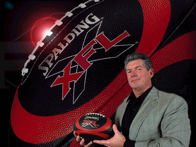 Vince McMahon's ill-fated XFL debuted and died.