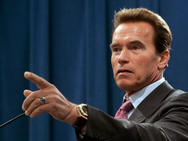 The Terminator becomes the Governator when Arnold Schwarzenegger is elected governor of California.