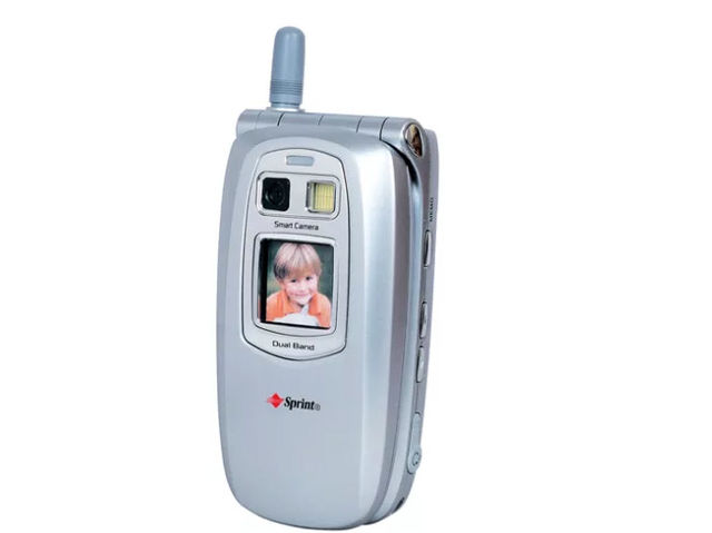 The Sanyo SCP-5300 is released in the U.S. and forever alters the cell phone with its built-in camera.