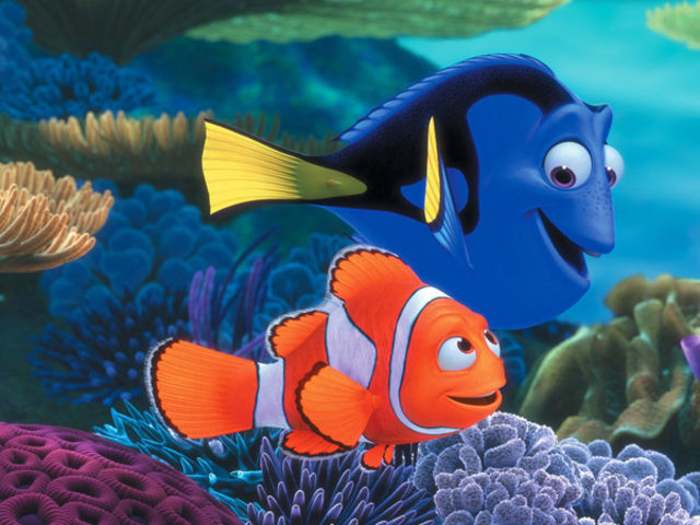 Finding Nemo makes a huge splash at the movie box office.