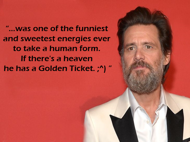 Who is Jim Carrey talking about?