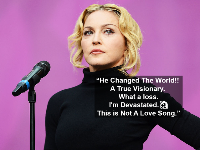 Who is Madonna referring to in her tribute?