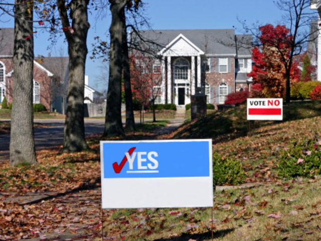 Is it legal to place candidate signs right next to polling places?