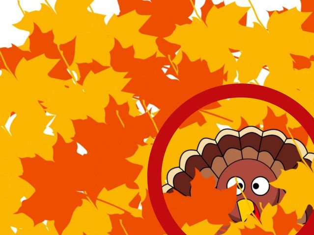 We'll start with something easy. Which section of this pile of leaves is the turkey hiding in?
