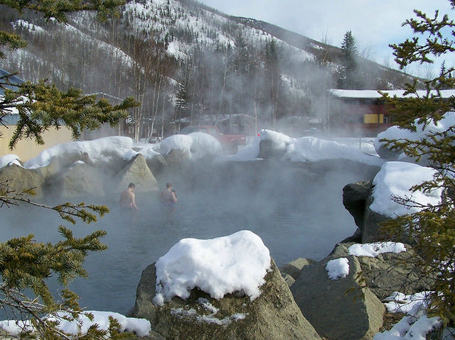 TRUE! Chena Hot Springs is close enough to the North Pole to offer a nice warm respite from the sometimes subzero temperatures.
