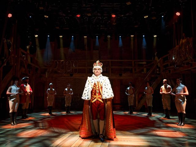 "Who originated the role of ""King George"" in Hamilton?"