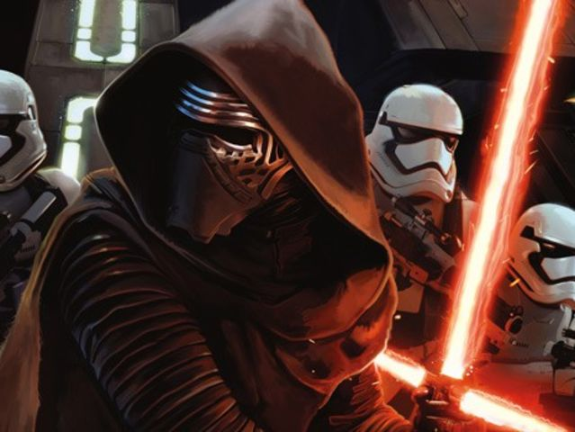 "Kylo Ren is following whose footsteps in ""The Force Awakens""?"