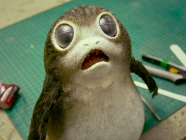 This creature is known as a Porg!