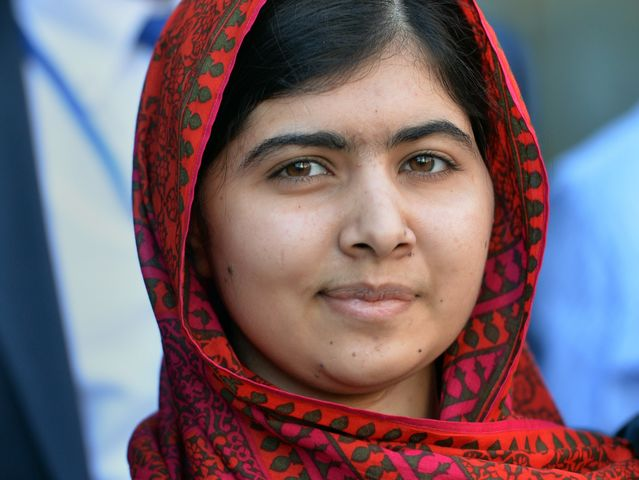 It's Malala Yousafzai, female education activist and Nobel Prize laureate!